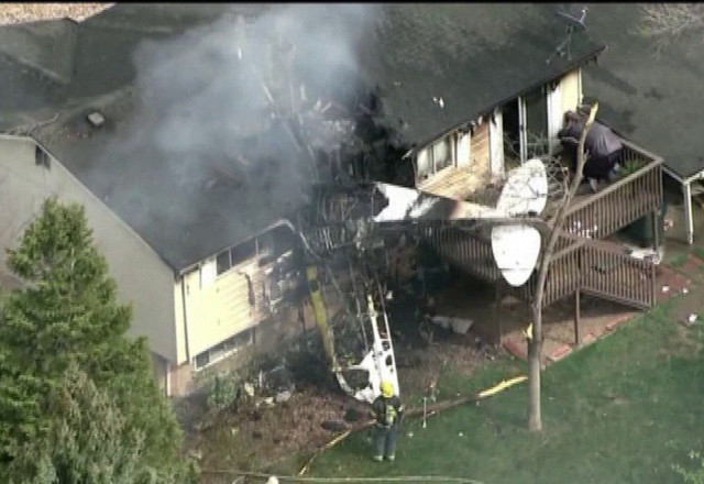 coincidence:  pilot has fiery crash into former home