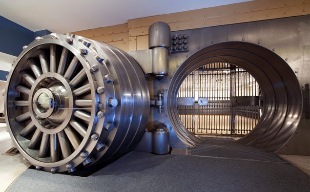 gold coins bank vault